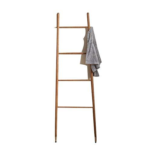 SEESEE.U - Escalera de aterrizaje nórdico de latón macizo, estante de dormitorio simple árbol ropa de baño nuevo toallero contra la pared, 169 x 46 x 56 cm