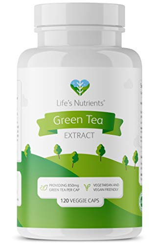 Green Tea Extract Providing 850mg | Powerful Antioxidant | 120 Capsules | Vegan Friendly | Manufactured in The UK