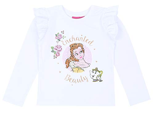 Witte blouse met ruches Disney Belle Beauty and The Beast