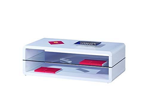 Links 50100135 Xoxo Table Basse Blanc Laqué 120 x 60 x 40 cm