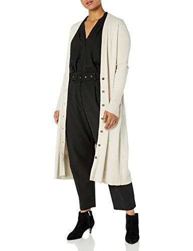 Jessica Simpson Women's Laela Cardigan Sweater Duster with Pockets, Oatmeal, Medium