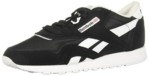 Reebok Womens Classic Nylon Sneaker, Black/Black/White,38 EU
