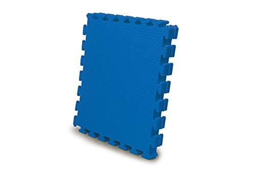 Jamara 460421-Alfombra 50 x 50 cm 4pz. Alfombra Puzzle, Color Azul (460421)