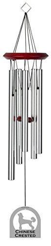 chimesofyourlife E4422 Carillon éolien, 48 cm, chinois à crête, argenté par Chimes Carillon de votre vie