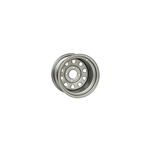 """ITP Delta Steel Silver Wheel with Machined Finish (12x7""""/4x137mm)"""