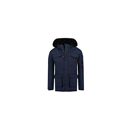Geographical Norway Winterjacke für Jungen Parka Kinderjacke Kinder Winter Jacke Outdoor Jacken für Kinder Jungenjacke Kapuze H-223 Navy 128