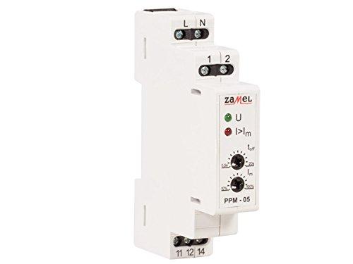 Zamel PPM-05/16 Stromrelais zur einphasigen Stromüberwachung bis 16A Stromwächte Überwachungsrelais 230V AC 1,6-16