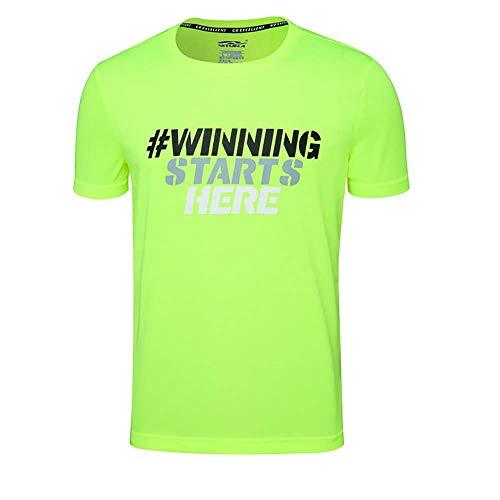 CUIZC - Camiseta deportiva de manga corta para hombre, cuello redondo y de secado rápido, tallas M, L, XL, 2XL, 3XL, 4XL