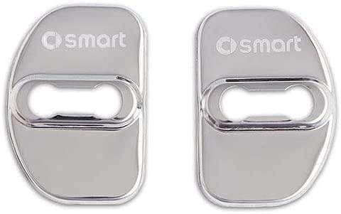 Car Acciaio Inossidabile Door Lock Cover per Smart 450 451 Fortwo 453 Forfour, Maniglie Esterne Porte Fibbia Bloccaggio Antiruggine Custodia Protettiva Accessori