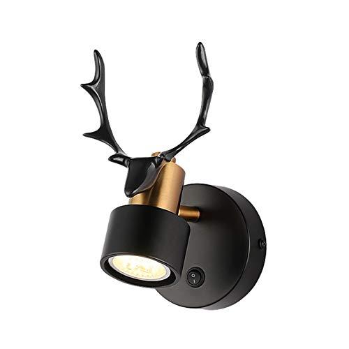 Lámpara de pared con diseño de cornamenta LED moderna giratoria con mando a distancia para dormitorio, mesita de noche, sala de estar, decoración de fondo, pasillo y escalera