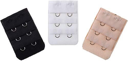 CellDeal-3 Extensions de Soutien-gorge avec 2 Crochets pour Bustier Sous-vêtements