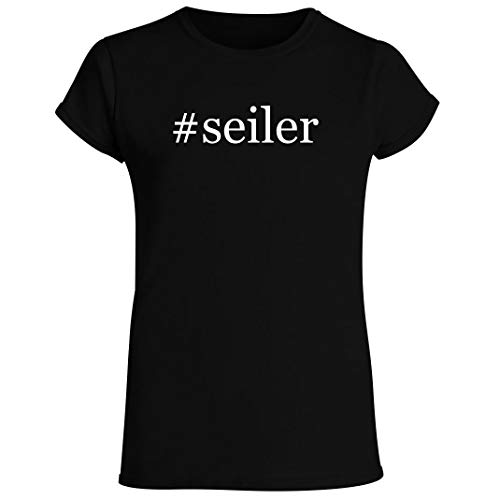 #seiler - Women's Crewneck Short Sleeve T-Shirt, Black, Small