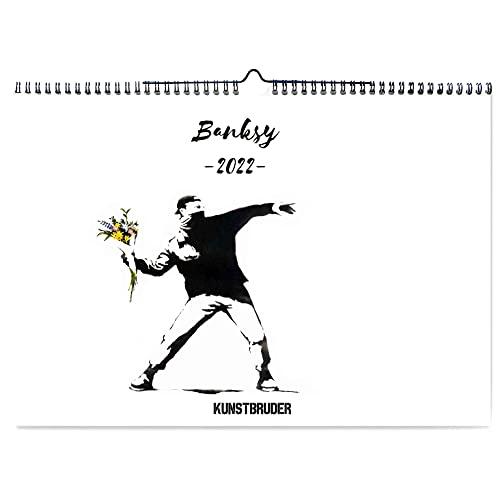 Banksy Wandkalender Streetart Kalender 2022 - Kunstkalender in A4 Querformat mit den besten und schönsten Bildern - Jahreskalender Banksys Graffiti Wohnzimmerkalender Bürokalender (Streetart)