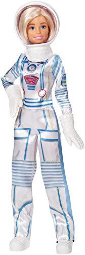 Barbie - Bambola Barbie Astronauta Bionda con Tuta e Casco Spaziali, 60° Anniversario, Giocattolo per Bambini 3+Anni, GFX24