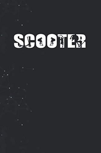 Kick Scooter Birthday Scooter Rider Women Men PaperBack Notebook