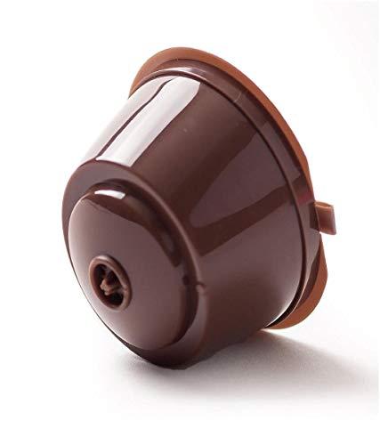 Vertily 2ピースコーヒーフィルターコーヒーカプセルカップ+ 1スプーン再利用可能なコーヒーカプセルポッドカップコーヒーフィルター用コーヒーマシン