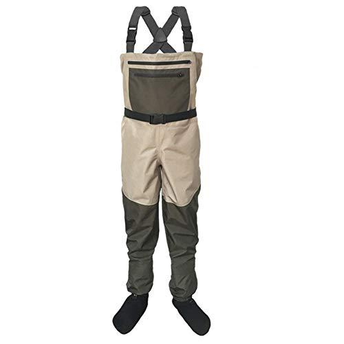 LSZHXL Pantalones de vadeadores de Pesca para Hombres Pantalones de vadeo para el Pecho portátiles Monos Pantalones de vadeo Impermeables para Exteriores Medias para pies