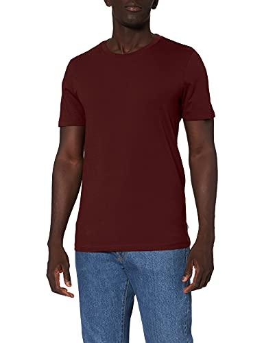 Jack & Jones Jjeorganic Basic Tee SS O-Neck Noos T-Shirt, Rouge (Port Royale Detail: Slim), Medium Homme