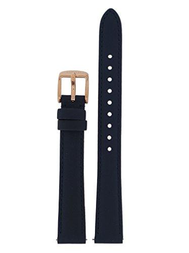 Fossil Uhrband Wechselarmband LB-ES3843 Original Ersatzband ES 3843 Uhrenarmband Leder 14 mm Blau