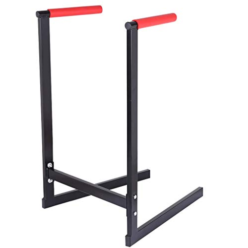 DEESEE(TM)_Home 【Ship from US!!!】 Dipping Station Dip Stand Pull Push Up Bar Fitness Exercise Workout Gym 440lbs