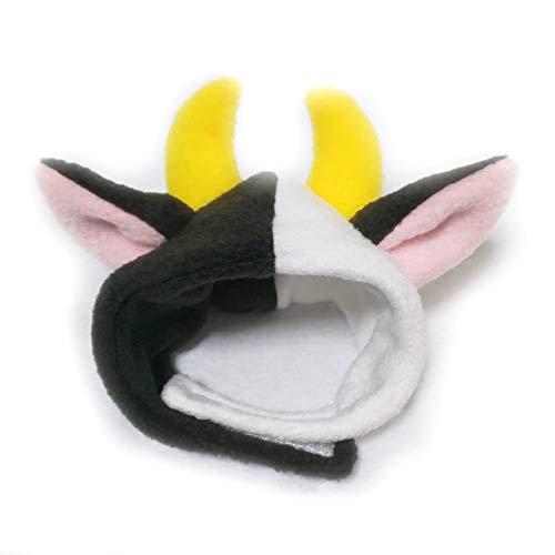 犬猫用コスプレ 牛のかぶりもの(帽子) (M:27~33cm)