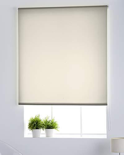 Estoralis Gove Estor Enrollable traslucido Liso, Tela, Beige, 110 x 175 cm