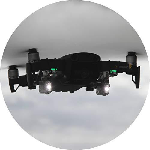 Roboterwerk Selfie Mavic Air Dual: doppelte LED Beleuchtung für DJI Mavic Air - Zubehör, 90 Lumen Licht, neigbar