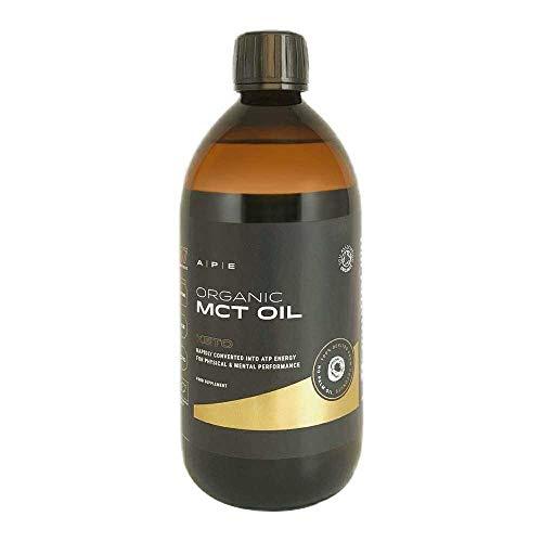 Organic MCT Oil | Keto | Glass Bottle | C8 & C10 MCTs (Medium Chain Triglycerides) | Boosts Ketones | Bulletproof Coffee | 100% Coconut-Derived | Boosts Focus & ATP Energy | Vegan | APE Nutrition