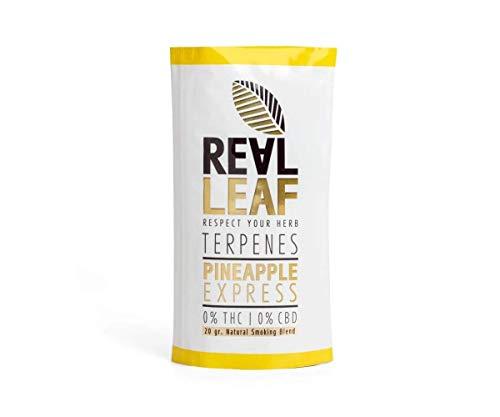 Real Leaf - Natürliche Kräutermischung - Tabakersatz - 100% Nikotinfrei und ohne Tabak (Terpenes - Pineapple Express, 1x 20g)