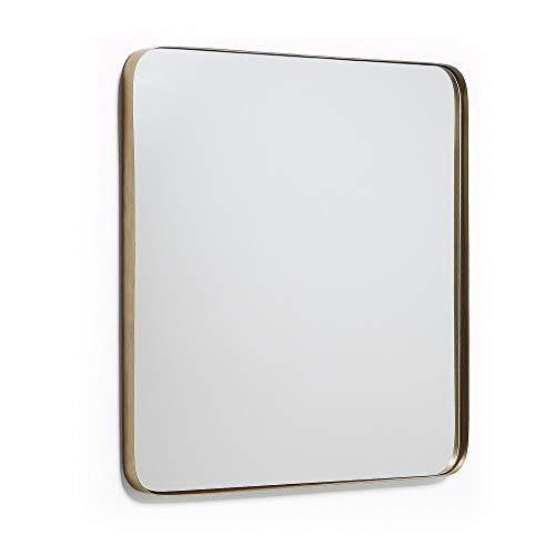 Kave Home Espejo Marco, 60 x 60 cm, dorado