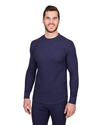 Watson's Herren Unterhemd Waffelmuster, Herren, Waffle Base Layer Top, Navy, Medium