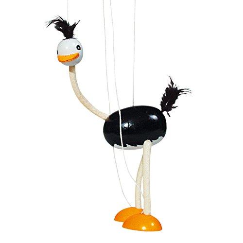 Houten Marionette Struisvogel