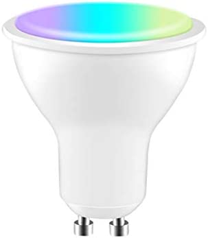 DEVELE Gu10 LEDgloeilamp werk met Alexa Google Home en IFTT wifi slimme spotlight 4W dimbare RGBCW kleur ledgloeilamp muzieksynchronisatie afstandsbediening en spraakbesturing