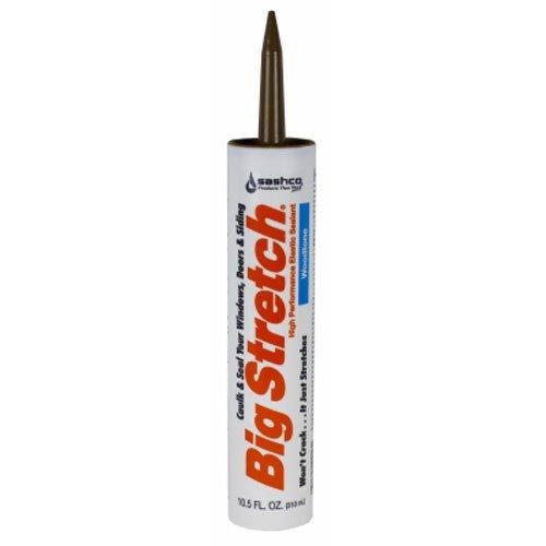 Sashco - 10018 Big Stretch Acrylic Latex High Performance Caulking Sealant, 10.5 oz Cartridge, Woodtone