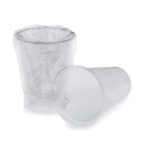 100 bicchieri trasparenti imbustati sigillati singolarmente da 220 cc per ristorazione alberghi centri estetici saune