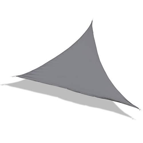 Laxllent Sonnensegel,Sonnenschutz,UV Schutz,5x5x5m Dreieck Grau (Anthrazit),Wasserdicht Winddicht Wetterfest,aus Reißfestem PES,für Garten Balkon Terrasse