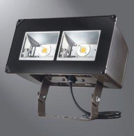 "Lumark NFFLD-A40-T LED Floodlight, NFFLD, 129W, 4000 K, 120-277V, 6"" x 6"", Trunnion, CBN-BZ"