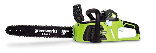 Greenworks 40V Akku-Kettensäge mit bürstenlosem Motor, 40cm Schwertlänge (ohne Akku und Ladegerät) - 20077
