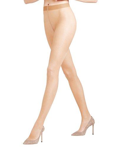 FALKE Damen Strumpfhosen Seidenglatt 15 Denier - Transparente, Leicht Glänzend, 1 Stück, Beige (Golden 4699), Größe: M