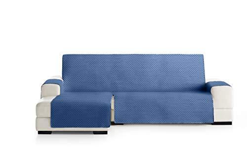 Eysa Oslo Funda, Poliéster, Azul/Gris, Chaise Longue Extra 290cm. Válido para sofá Desde 300 a 350cm