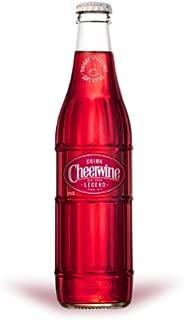 Cheerwine Glass Bottles 12 oz (Pack of 24)