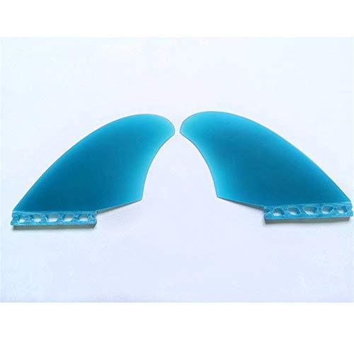 YEZIB Surf & Sup Fin, Quilla Gemela Aletas Preformance Tabla de Surf Azul Transparente Especial Fin Tabla de Surf Surf Windsurf para Longboard, Tabla de Surf y Paddleboard.