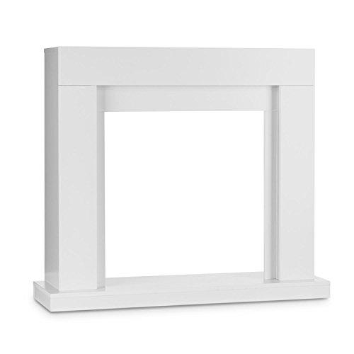 Klarstein Studio Frame - Kamingehäuse, Gehäuse, MDF-Platten mit weißer Lackierung, Gewicht: 16,8 kg, Maße Aussparung: 58 x 60 cm (BxH), standsicher, klassisches zeitloses Design, weiß