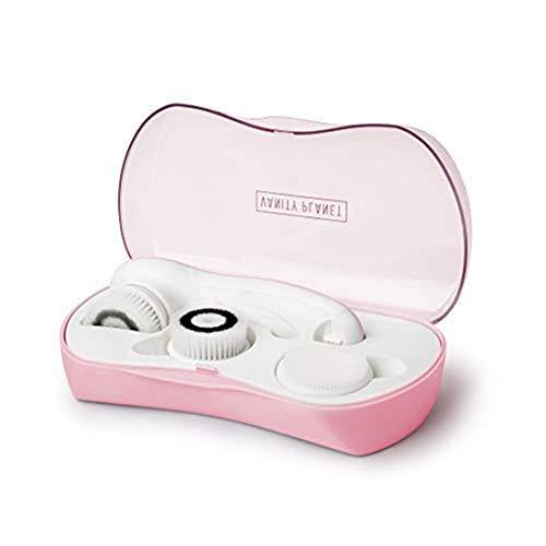 cepillo giratorio para la limpieza facial Ultimate Skin Spa de Vanity Planet, Rosa para fruncir los labios