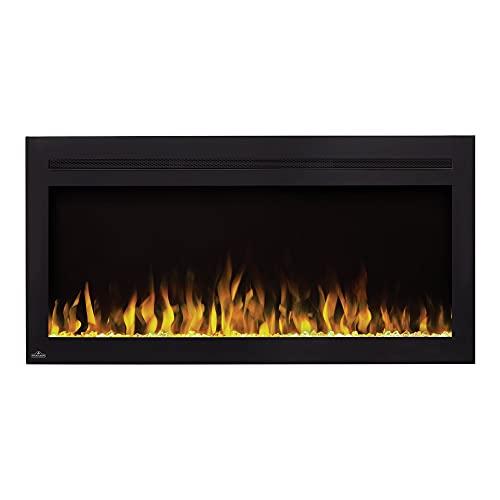 Napoleon Premium Fire - Purview™ Series (42) - Elektrokamin, Kamin elektrisch, elektrischer Wandkamin, kaminofen Elektro, kaminfeuer elektrisch, Heizung, 3D LED Flamme & inkl. Fernbedienung - schwarz