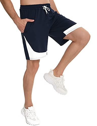 Doaraha Pantaloncini da Uomo, Pantaloncini Sportivi da Uomo Cotone Comodo Pantaloni Corti Pigiama da Uomo Pantaloncini Corsa Uomo con Coulisse e Tasche