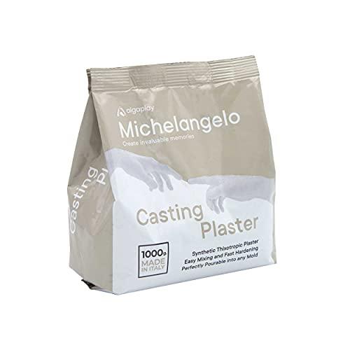 Michelangelo Casting Plaster 1 Kg. Gesso Sintetico tixotropico e atossico ad elevata durezza e resistenza. Ideale per calchi e positivi in Copia.