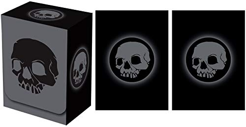 Legion Supplies Absolute Iconic Black Skull Deck Box with 100 Sleeves