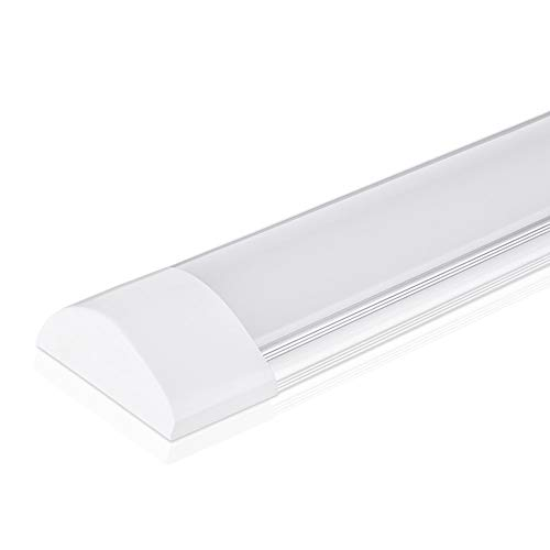 40W LED Deckenleuchte Röhre Licht 120CM, mit 4800LM in Neutralweiß 4000K, 130° Abstrahlwinkel für Badzimmer Wohnzimmer Küche Garage Lager Werkstatt von pingouGo