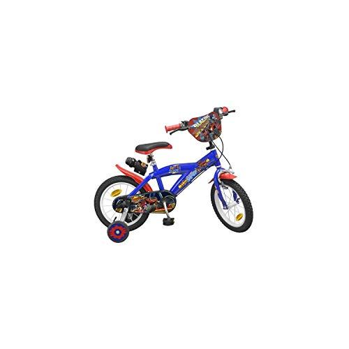 Pik&Roll Blaze - Bicicletta da 14', unisex, da bambino, colore: Blu